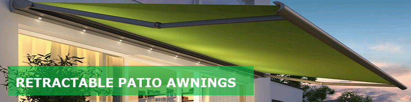 retractable fabric awnings for home and business