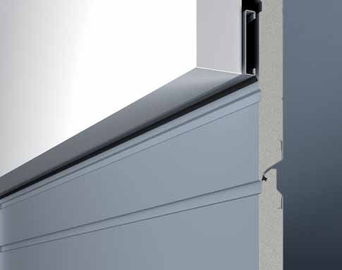 sectional garage door flush fitting fascia panel