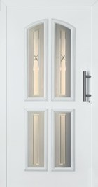 hormann front entrance door traditional style with genuine fluted glass