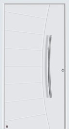 hormann door with solid infills and grooves