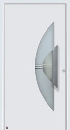 hormann house security door with crescented glass