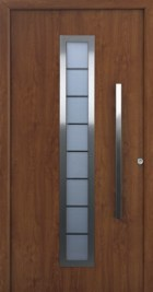 hormann front entrance door finished in decograin golden oak