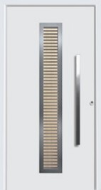 hormann exterior door style 65-8 with canadian maple wood timber insert