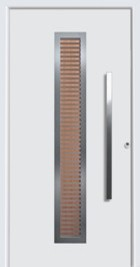 hormann bright white house door with vertical handle