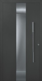 style 680 hormann door in anthracite with insulated safety glass