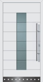 hormann front entrance door with style 689 in RAL 9016 white