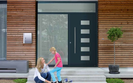 A ThermoCarbon entrance door from Hormann