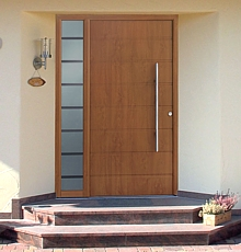 Entrance Doors With Side Lights Hormann Thermopro And Top Aluminium Range Of