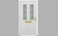 hormann thermopro steel front entrance door tps 400 twin glazing vertical sections with panelled door design