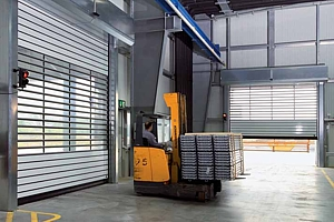 warehouse high speed doors in action