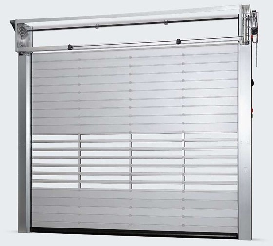 high speed insulated roller type door