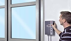 push buton electric operation for a folding door system