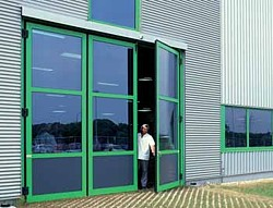 aluminium glazed doors for a factory