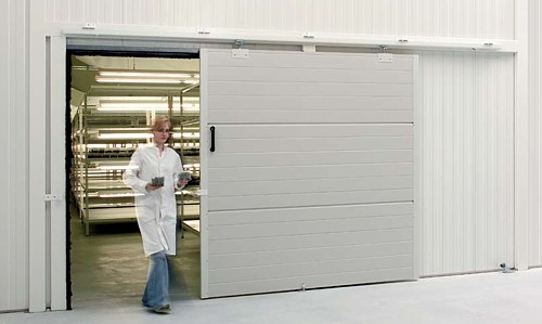 small internal mounted sliding door for storage area