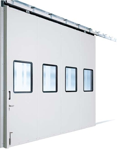 Insulated steel sliding industrial door