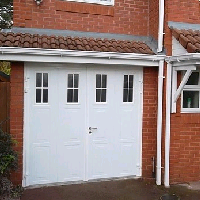 Side Hinged garage doors with Windows from Samson Doors