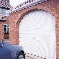 Roller Garage Door in archway