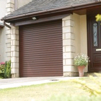 Woodgrain finish Roller Shutter garage doors from Samson Doors