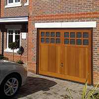 Up & Over Garage Doors in Timber with Windows