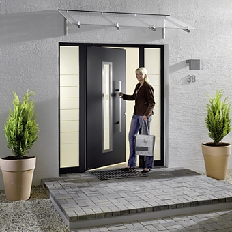 ThermoSafe front entrance door and side lights