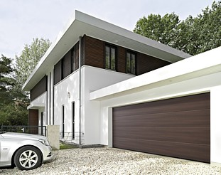 Hormann duragrain finish for sectional garage doors