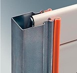 super sealed side guide for insulated roller type doors