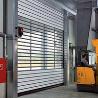 spiral high speed roller door