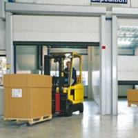 internal fast action roller doors for forklifts
