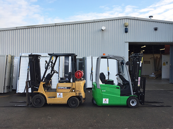 Electric Forklift - Samson Doors