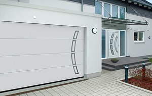Lpu 40 Sectional Garage Door With Stainless Steel Design Elements ...