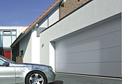 Hormann L Ribbed silkgrain sectional garage door