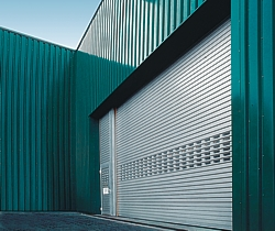 roller shutter and side door with vision slats