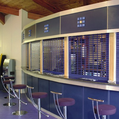 seceurovision 3800 punched installed on a bar in purple
