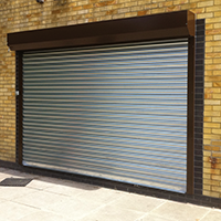 galvanised steel security shutter curtain with continental guides