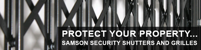 secure your property with Samson retractable security grilles and gates