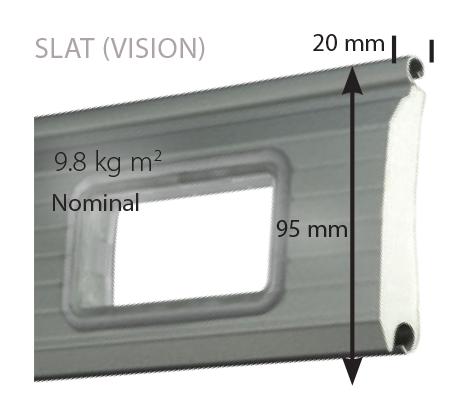 roller shutter slat with vision panel
