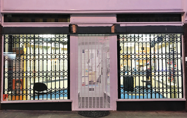 Commercial Retractable Security Grilles for Opticians