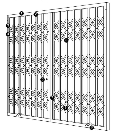seceuroguard security grille layout and specification