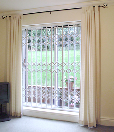 Retractable Security Grilles in use