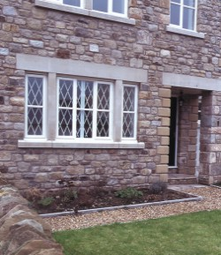 security grilles installed on home windows for high security