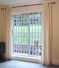 Collapsible Folding Security Grilles on curtain designs for windows