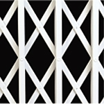 X lattice design collapsible security grille