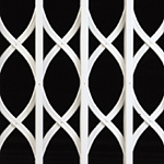 S lattice design collapsible security grille