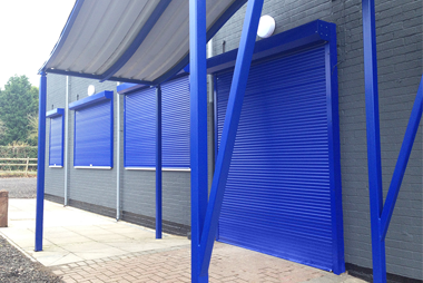 Blue Security Shutters for Windows and Doors