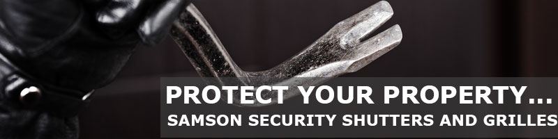 protect your property with security shutters from Samson