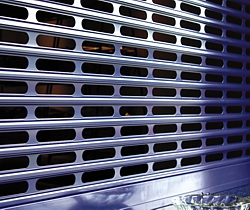 open vented security shutter curtain