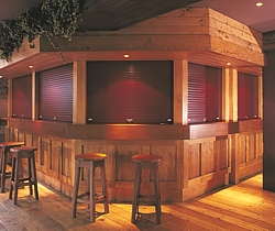 seceuroshield 3800 security shutters on bar