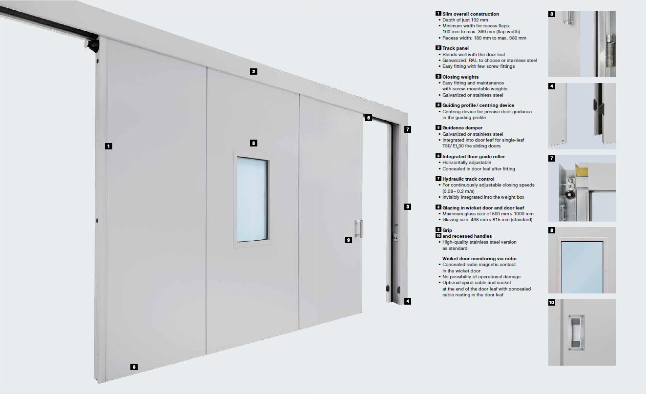 Technical image of sliding doors