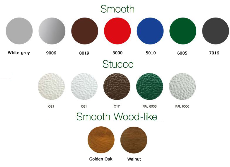 Colour Options for sliding doors