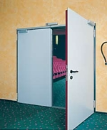 double door set fire proof and double skinned